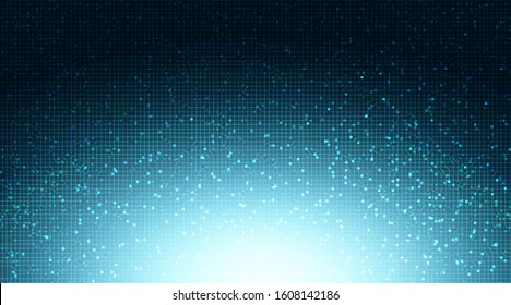 Super Light Blue Circuit Microchip on Technology Background,Hi-tech Digital and security Concept design,Free Space For text in put,Vector illustration.