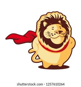 Super Lion Mascot