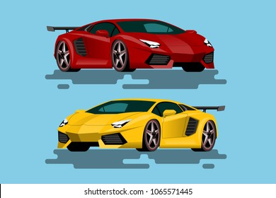 Super luxury car for people who love high speed. Newly-formulated vehicles in the concept of agility. Vector illustration design.