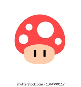 super mario mushroom, modern videogame character fly agaric