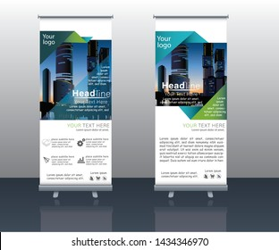 super modern roll up designs for business,background and with nice colorful vector images and discount poster design