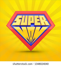 Super mom. Supermom logo. Mother day concept. Card for Mom. Comic style. Leadership concept. Vector illustration