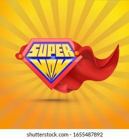 Super mom. Supermom logo. Mother day concept. Mother superhero.