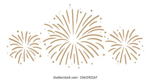 Super Nice Firework Golden Vector