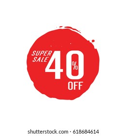 Super Sale 40 Off lettering