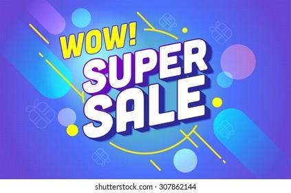 Super sale banner design.Vector illustration