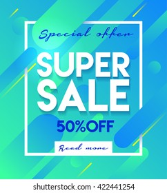 Super sale banner. Sale and discounts. Flat design banner,poster,flyer template