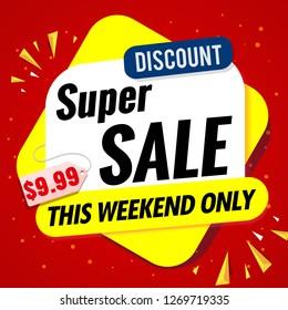 super sale banner template