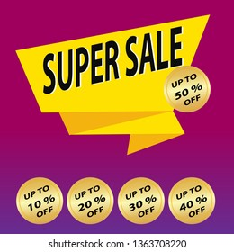 Super sale banner. Vector illustration