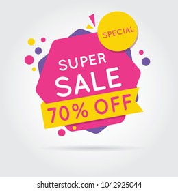 Super sale, Sale Banners, Tags, Labels And Stickers. Vector Illustration