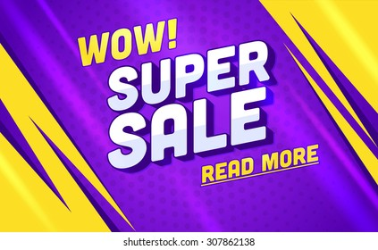 Super sale banner.Vector illustration
