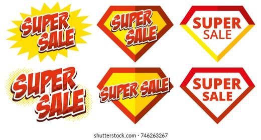 Super sale big set stickers Vector collection