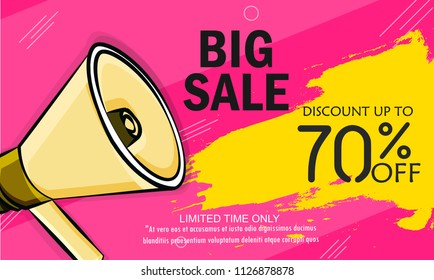 Super Sale, Big Sale this weekend special offer banner, Vector illustration