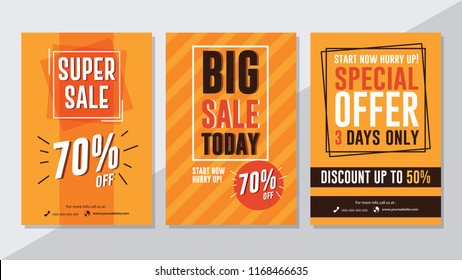 Super sale, big sale today and special offer flyer template