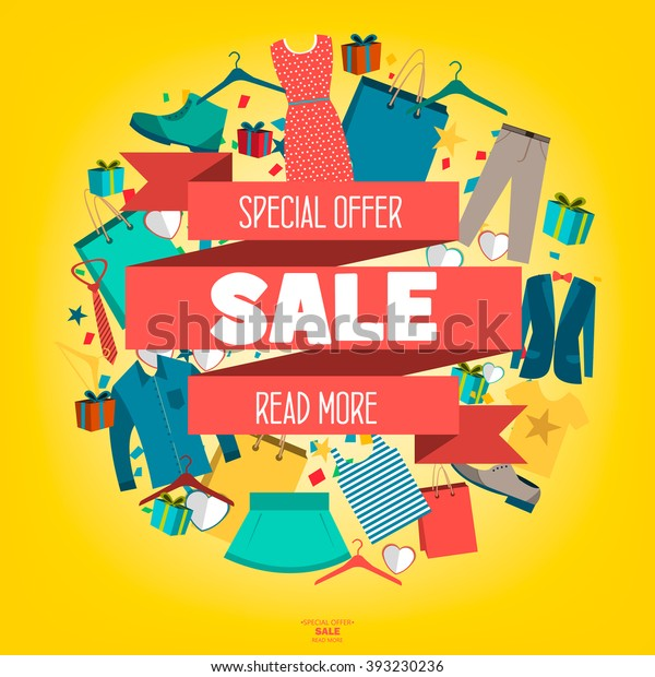 501191b99 Super Sale Clothing Accessories Banner Big Stock Vector (Royalty ...
