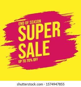 super sale end of season brush banner