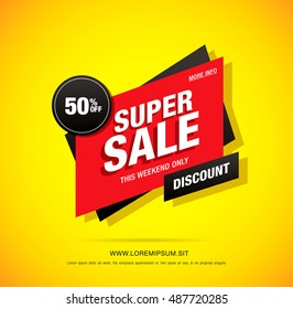 Super sale label design