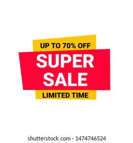 super sale label vektor free