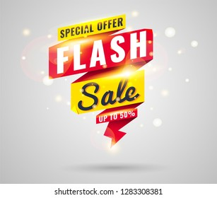 Super Sale, Mega. this weekend special offer banner, up to 50% off. Vector illustration.