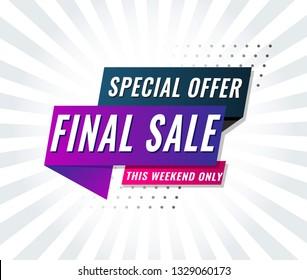 Super Sale, Mega. this weekend special offer banner. Vector illustration.
