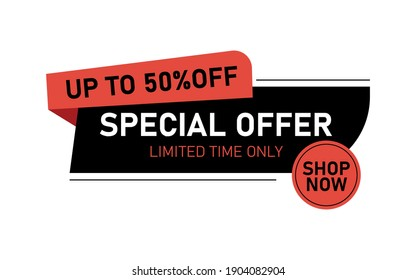 Super Sale and special offer. 50 off. Vector illustration.Theme color. Eps 10