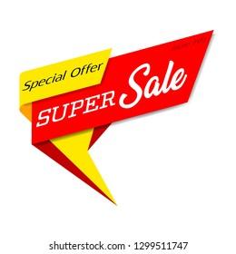 Super Sale, special offer banner - Vector