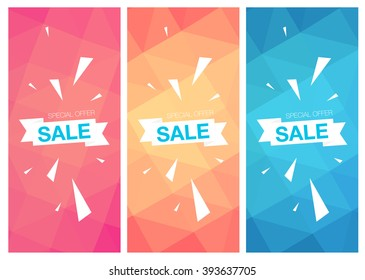 Super Sale Special Offer vertical banners