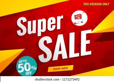 super sale template red.shop banner