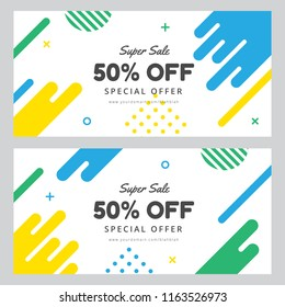 Super sale vector banner