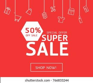 super sale vector design