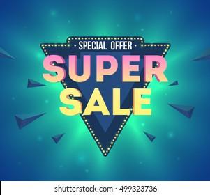 SUPER SALE! wording in pop art style, vector format