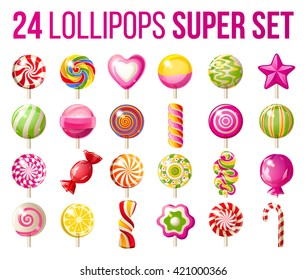 super set of lollipops - 25 highly detailed icons