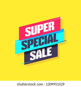 Super Special Sale Label