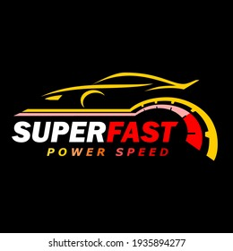 Super speed symbol, speed of the car for speed icons vector.