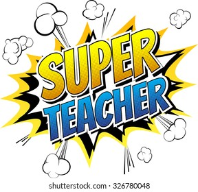 Super teacher - Comic book style word