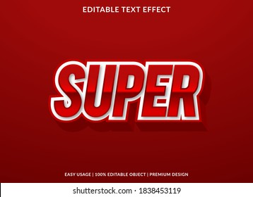 super text effect template with 3d bold style use for logo and business brand