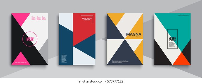 Super trendy covers design. Colorful modernism. Minimal geometric shapes composition. Futuristic patterns. Eps10 layered vector.