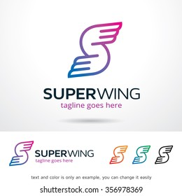 Super wing Letter W Logo Template Design Vector