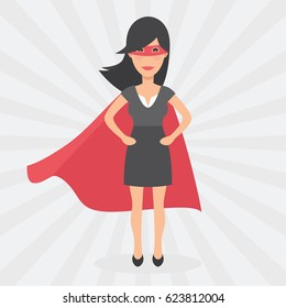 Super Woman. Symbol of female power, woman rights, protest, feminism. Vector.