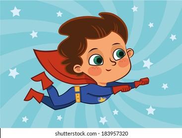 Superboy Flying