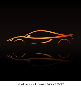 Luxury Car Logo Template Premium Silhouette Stock Vector Royalty