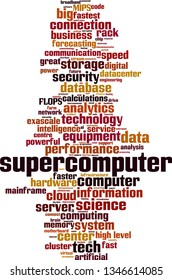Supercomputer word cloud concept. Collage made of words about supercomputer. Vector illustration