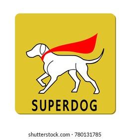 Superdog logo, vector illustration