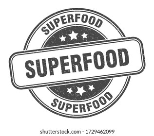 superfood stamp. superfood round grunge sign. label