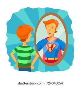 Boy Looking In Mirror Images Stock Photos Vectors Shutterstock