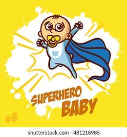 Superhero Baby Boy Clipart