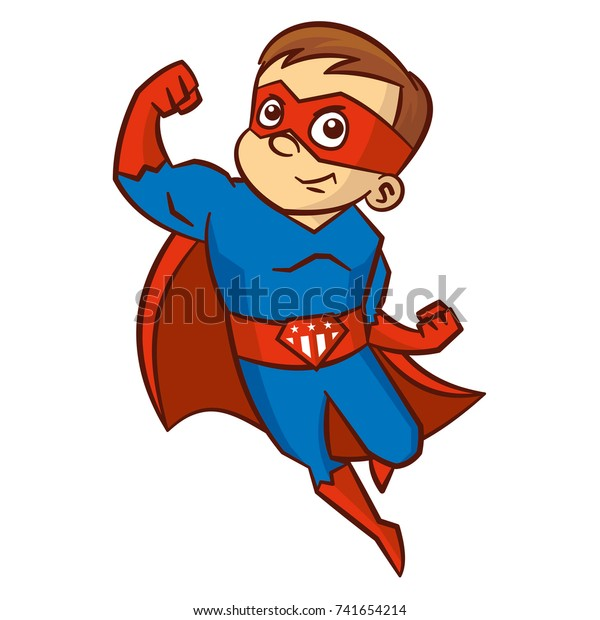 Superhero Boy Cartoon Character Stock Vector Royalty Free