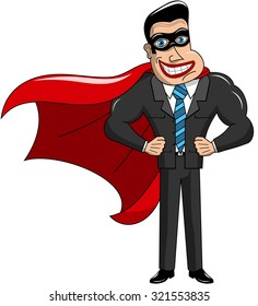 Superhero Businessman Masked Isolated