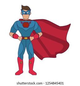 Superhero character cartoon