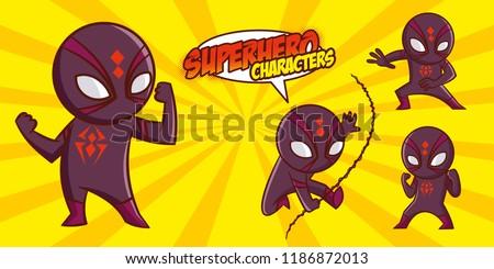Superhero character Superheroes Set